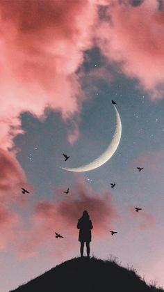 Wallpaper 4k Anime, Night Sky Wallpaper, Cloud Wallpaper, Iphone Background Wallpaper, Scenery Wallpaper, Tumblr Wallpaper, Black Wallpaper, Aesthetic Iphone Wallpaper, Galaxy Wallpaper