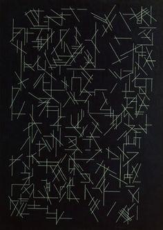 PATTERN and LINE: irregular pattern created by line variation, Nigredo II (1991)