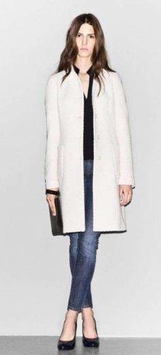 Sisley, cappotto bianco - Dalla collezione autunno inverno 2012-2013 di Sisley, cappotto bianco.