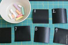 Chalkboard contact paper calendar