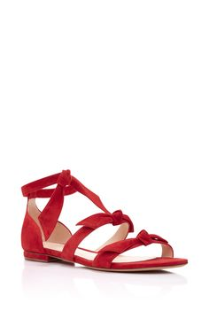 Gianna Flat Sandal  by ALEXANDRE BIRMAN Now Available on Moda Operandi