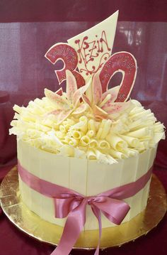 Chocolate shards and chocolate curls covered blackforest Birthday cake http://www.elisabethscakes.com.au