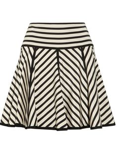 ++ striped stretch-silk crepe de chine skirt, black and white Stella Mccartney Shoes, Stripe Skirt, Silk Crepe, Vogue, Silk Fabric, Clothing Items, Black Stripes, Passion For Fashion, Style Me
