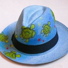 Shop Our Ecuadorian Panama Hats Painted Hats, Painted Clothes, Hand Painted, Hat Crafts, Western Chic, Fancy Hats, Love Hat, Hat Making, Paint Designs