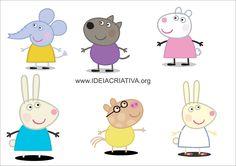 Atividade Autismo Infantil Silhuetas Peppa Pig Personagens Sala de Recursos Multifuncional