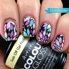 Chickettes.com Spring Floral Stamped Nails & ACG Flawless Swatch