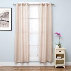 Bridgewater Collection Chambray Room Darkening Grommet Curtain Panels - 2-Panel Set
