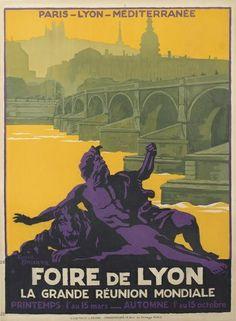 Affiche Foire de Lyon Lyon département du Rhône, Région Rhône-Alpes