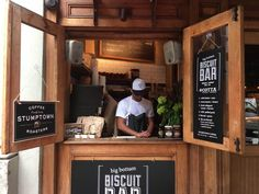 Big Bottom Biscuit Bar opened today on the UWS, operating a takeout window outside of Columbus Avenue restaurant.