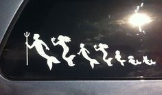 FREE SHIPPING - Mermaid Family car stickers 2 to 8 family members