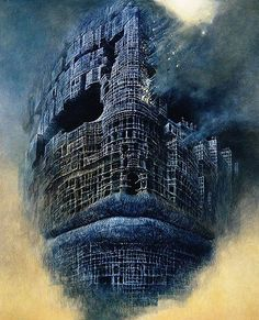 Zdzistaw Beksinski Polish painter, photographer, and sculptor specializing in the field of dystopian surrealism. Arte Horror, Horror Art, Artist Painting, Painting & Drawing, Dark Images, Creepy Art, Art Graphique, Fantastic Art, Surreal Art