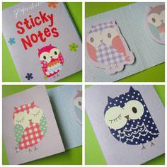 Owl-Sticky-Notes.jpg 500×500 pixels