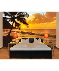 Love this Pacific Sunset Mural on #zulily! #zulilyfinds