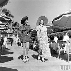 1940s. Miami Beach fashion. By photographer Alfred Eisenstaedt