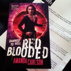 Red Blooded by Amanda Carlson came #ThroughOurLetterbox today! We can't wait to start reading it!