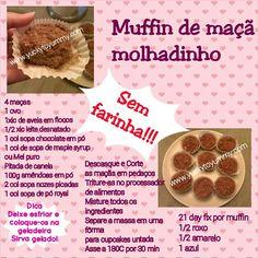 Muffins molhadinhos pro café da manhã!   www.yuckytoyummy.com