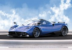 Carbon blue Pagani Huayra Pearl One-off Edition front side view - Image Gallery