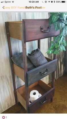Made shelf from old drawers Regal aus alten Schubladen gemacht This image ha. Made shelf from old Refurbished Furniture, Repurposed Furniture, Furniture Makeover, Diy Furniture Repurpose, Antique Furniture, Dresser Makeovers, Desk Makeover, Furniture Cleaning, Smart Furniture