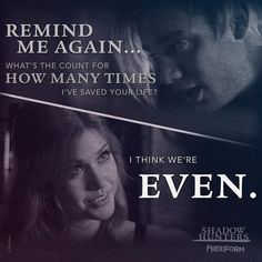 Shadowhunters - Clary and Jace