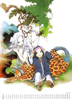 白汕子 Haku Sanshi、泰麒 蒿里 Taiki Kouri:十二国記 Juuni Kokki / Twelve Kingdoms - art by Yamada Akihiro 山田章博