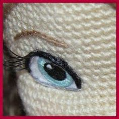 Beautiful eyes.. This is such a great blog with everything you need to know about making amigurumi , this particular tutorial is in Russian but the pictorial is very easy to follow :)
