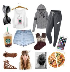 The basicvs. the accurate by mareilgil4 on Polyvore featuring polyvore, fashion, style, Victoria's Secret PINK, NIKE, Brooks Brothers, O'Neill and Forever 21
