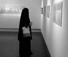 Niqabi in a beautiful museum.