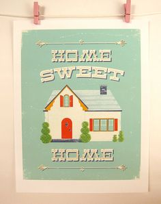 Home Sweet Home Print by automatte on Etsy