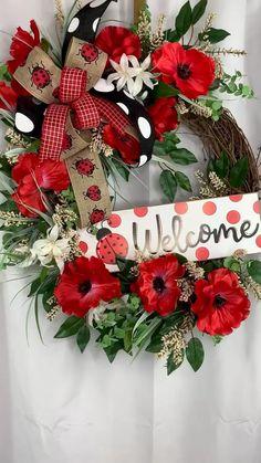 Summer Door Wreaths, Spring Wreaths, Wreaths For Front Door, Rustic Wreaths, Country Wreaths, Grapevine Wreath, Burlap Wreath, Entryway Decor, Office Decor
