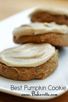 The Best Pumpkin Cookie by bakerette #recipes #cookies #pumpkin