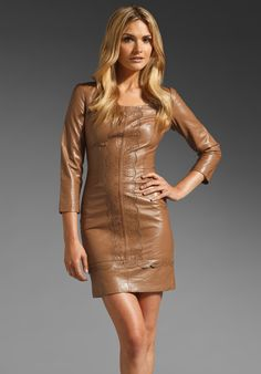 ALICE BY TEMPERLEY Mini Page Dress in Caramel