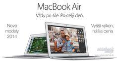 MacBook Air 2014 - Nové modely MacBook Air 2014 prinášajú vyšší výkon a o 100€ nižšiu cenu.