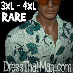 REAL 1970's Shirts for MEN 3XL 4XL UNWORN Vintage Disco Era