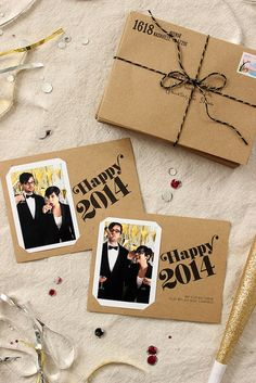 Fabric Paper Glue | DIY Holiday Photo Cards + Free Printable by fabricpaperglue, via Flickr