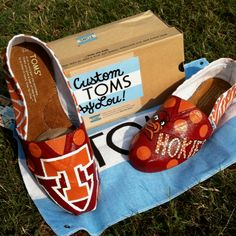 Custom Painted Virginia Tech Hokie TOMS! SOLD!! ;) Place an Order at Linds669@aol.com if you'd like a Pair of Custom Painted TOMS!