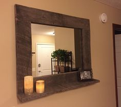 A personal favorite from my Etsy shop https://www.etsy.com/listing/243757201/rustic-wood-mirror-pallet-furniture