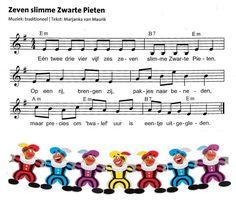 *▶ LIEDJE: Zeven slimme Zwarte Pieten....
