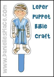 Leper Puppet Bible Craft from www.daniellesplace.com for Children's Sunday School