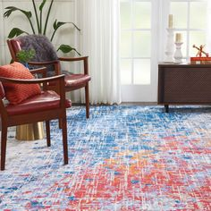 TWILIGHT TWI25 RED/BLUE AREA RUG Grey And White, Red And Blue, Orange Pattern, Patterned Carpet, Blue Area Rugs, Neutral Colors, Twilight, Pattern Design, Patterns