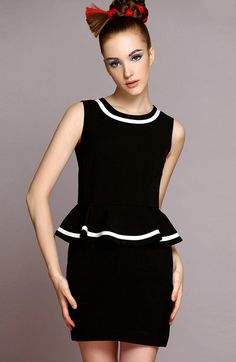 Black Sleeveless Ruffle Slim Bodycon Dress $63.33