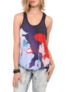 Disney The Little Mermaid Ariel Ursula Girls Tank Top 3XL