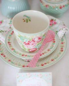 pretty tea cup - I am guessing it's Greengate