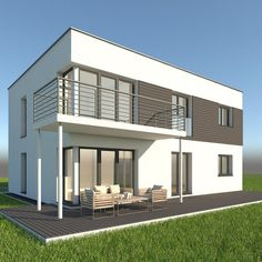 High detailed model of a realistic modern single family home. Suitable for visualizations, advertising renders and other purposes. 3d Max, Single Family, Home And Family, Mansions, Architecture, House Styles, Modern, Advertising, Home Decor