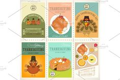 Thanksgiving Day Posters Set by elfivetrov on @creativemarket