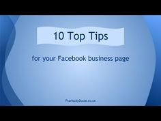 Facebook for Business - 10 Top Tips from Purrfectly Social
