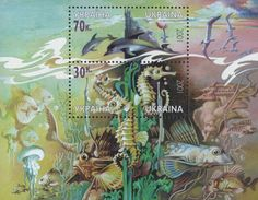 #441 Ukraine - Black Sea Marine Life S/S (MNH)