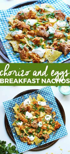Chorizo and Eggs Breakfast Nachos - Food Recipe Breakfast Nachos, Chorizo Breakfast, Mexican Breakfast Recipes, Homemade Breakfast, Delicious Breakfast Recipes, Brunch Recipes, Fun Recipes, Brunch Ideas, Mexican Recipes