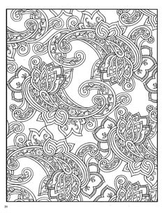Dover Paisley Designs Coloring Book | Colouring Pages for Adults #colouringin #coloringin
