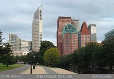 The Hague's modern architectural skyline of the downtown area.