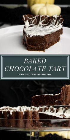 Chocolate Custard, Dessert Chocolate, Chocolate Heaven, Homemade Chocolate, Chocolate Lovers, Chocolate Desserts, White Chocolate, Easy Tart Recipes, Best Dessert Recipes
